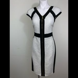 Two tone black and cream dress